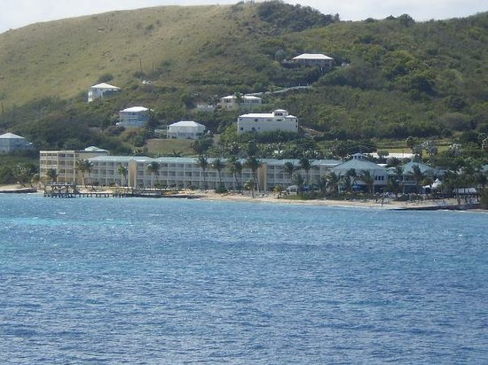 Divi Carina Bay All Inclusive Beach Resort:                   From across the waves