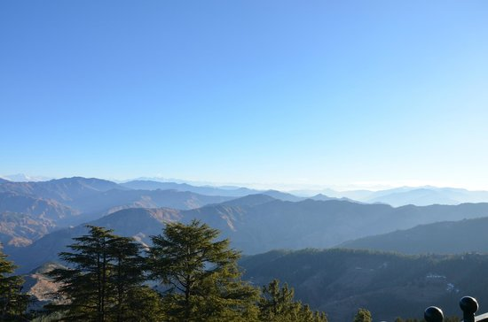 Wildflower Hall, Shimla in the Himalayas:                   view from the room 324