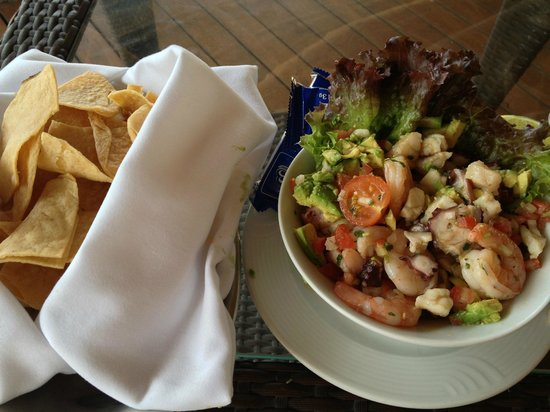Presidente InterContinental Cancun Resort:                   Ceviche ordered in the hotel restaurant
