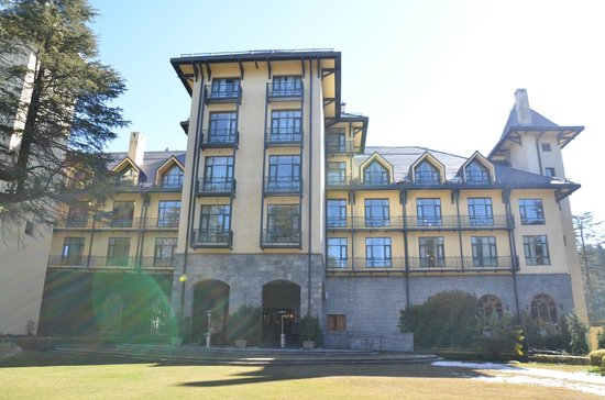 Wildflower Hall, Shimla in the Himalayas:                   hotel front