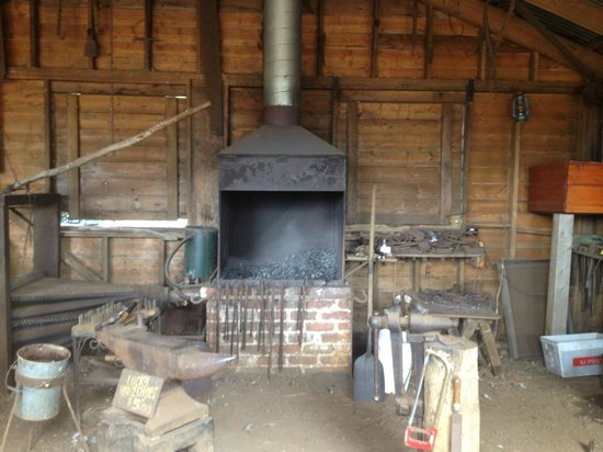 Churchill Island:                   Blacksmith exhibition