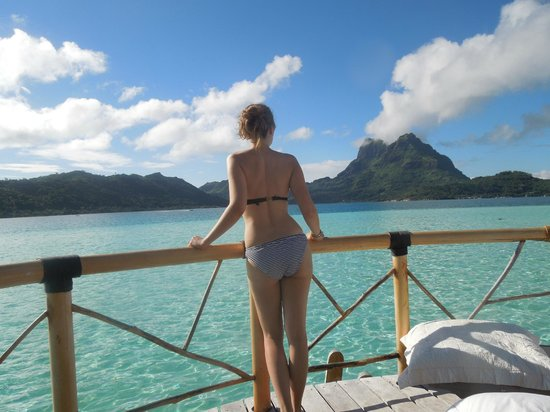 Bora Bora Pearl Beach Resort & Spa:                   What a view! Pearl Premium OWB