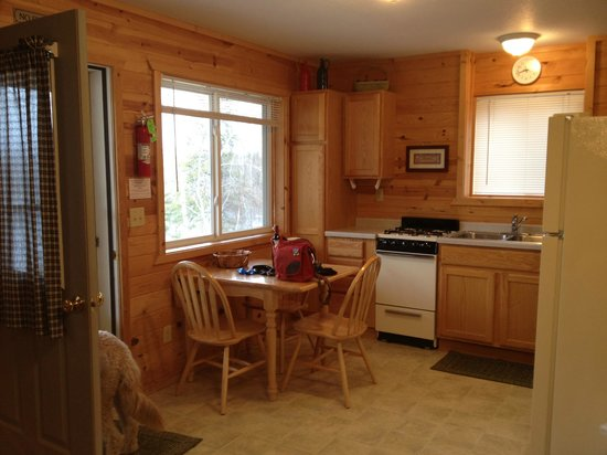 Northern Lights Lodge:                   Kitchen in the Suite- very nice room.