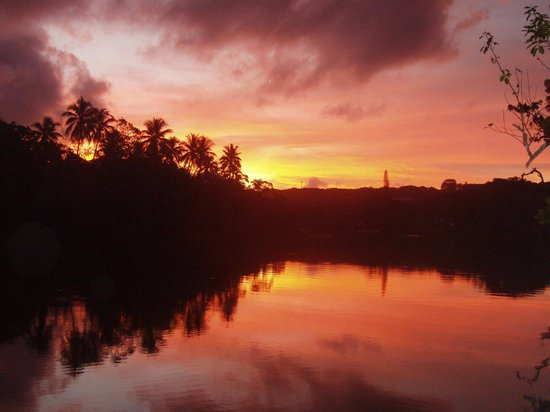 Tropicana Lagoon Apartments Resort:                   Sunset over the lagoon - how much better can the view get?