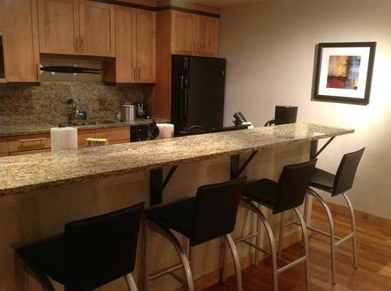The Vail Spa Condominiums:                   View of the kitchen area