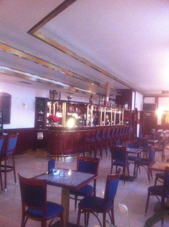 Grandhotel Brno:                   The bar area
