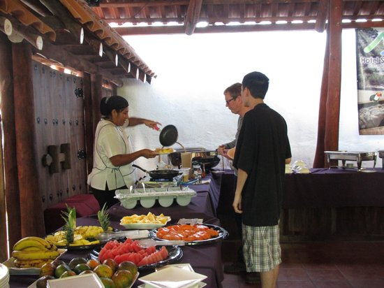 Hotel San Bada:                   Fresh Omelets for Breakfast