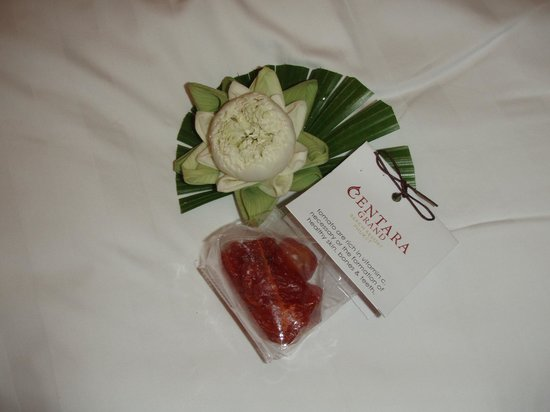 Centara Grand Beach Resort Phuket:                   little presents on our bed every day