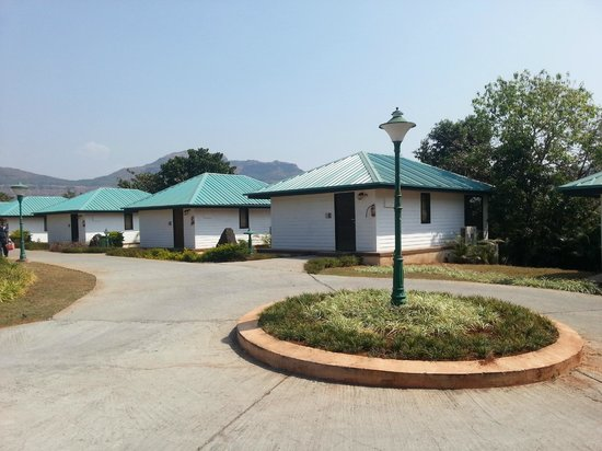 Aamby Valley City: Rows of Burmese Cottages. Single unit rooms.