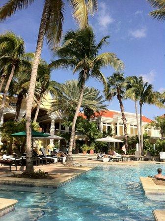 Curacao Marriott Beach Resort & Emerald Casino :                   View towards hotel