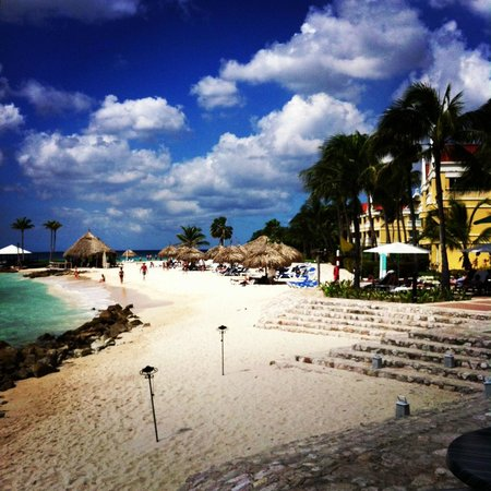 Curacao Marriott Beach Resort & Emerald Casino:                   Beach in front of hotel