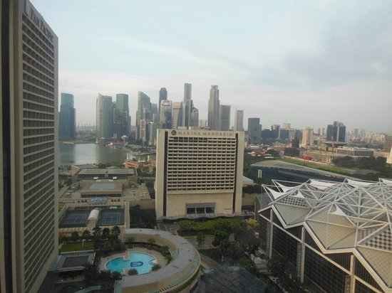 Conrad Centennial Singapore:                   View from bedroom window