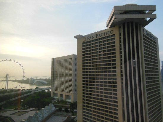 Conrad Centennial Singapore:                   View toward Marina Bay and Gardens from room