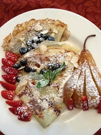 Chelsea Station: Crepe with chocolate and Crepe with preserves, pear, and berries