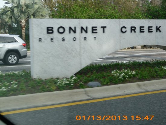 Wyndham Bonnet Creek Resort:                   Resort marquee on Buena Vista Dr and Chelonia Pkwy