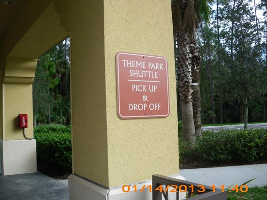 Wyndham Bonnet Creek Resort:                   Bus Shuttle Stop