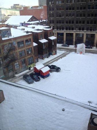 Hilton Garden Inn Montreal Centre-ville :                   View from room