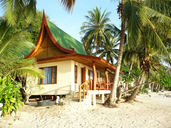 Seaflower Bungalows:                   Beach front beauty