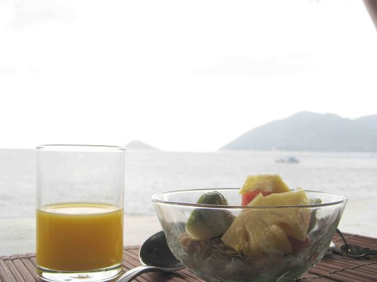 Charm Churee Villa:                   Another breakfast with that view!