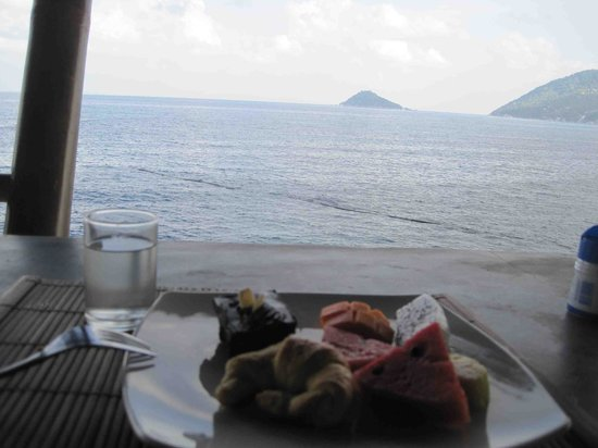 Charm Churee Villa:                   Breakfast with a view!!