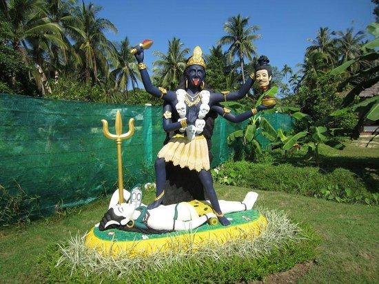 Agama Yoga: the Kali statue in the garden