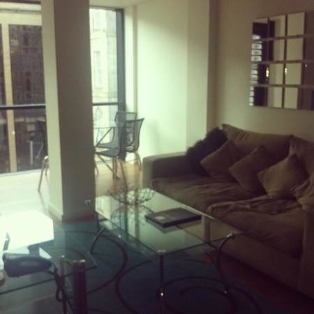 Princes Street Suites:                   lovely living area