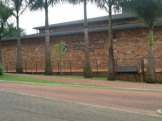 Munyonyo Commonwealth Resort:                   Front View while approaching the reception