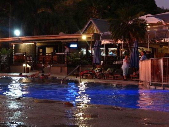 Fiji Hideaway Resort & Spa:                                     Pool at night