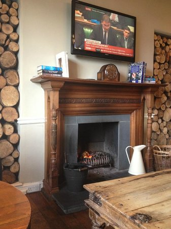 The Angel Inn:                   The Fireplace