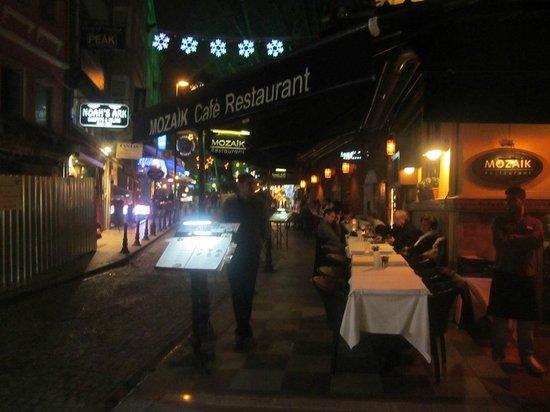 Sultanahmet District: Restaurants along the street