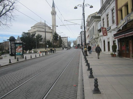 Sultanahmet District: A view of the tramway