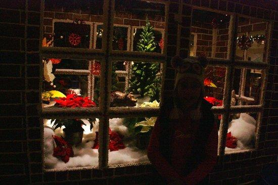 Fairmont Jasper Park Lodge:                                     sorry it's dark, inside the magnificent gingerbread house! 