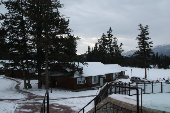 Fairmont Jasper Park Lodge:                                     From the main building, looking out                       
