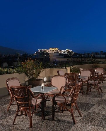 Stanley Hotel: Rooftop Bar & Lounge with Acropolis Views