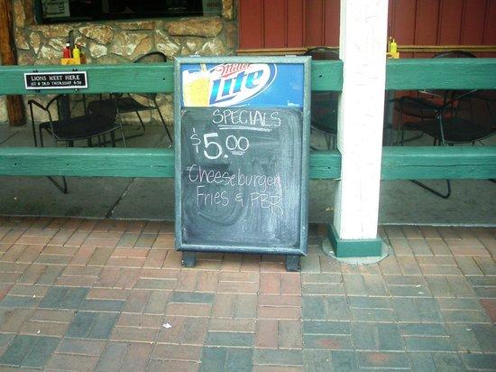 The Buffalo Rose:                                     Bailout Special blackboard