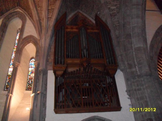 Brecon Cathedral:                   Organ pipes
