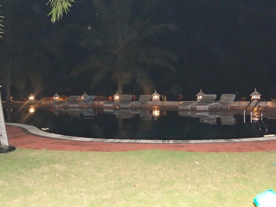 The World Backwaters:                   night view of the pool