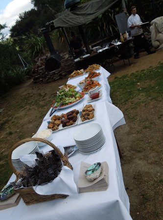 Lochmara Lodge - Wildlife Recovery and Arts Centre: Great BBQ buffet at restaurant, also for vegetarians!