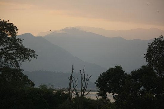 Sacred Valley Inn Pokhara:                   View from Roof Top toward Phewa Tal