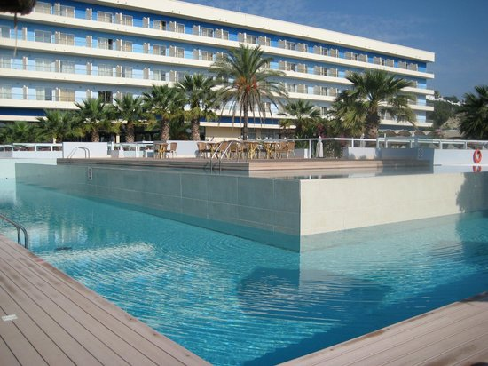 Blue Sea Beach Resort:                   One of the pools and main hotel building