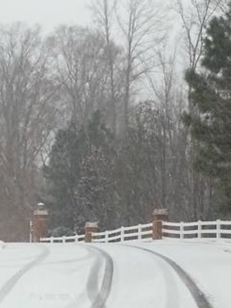 King's Creek Plantation Resort: Beautiful snow in resort