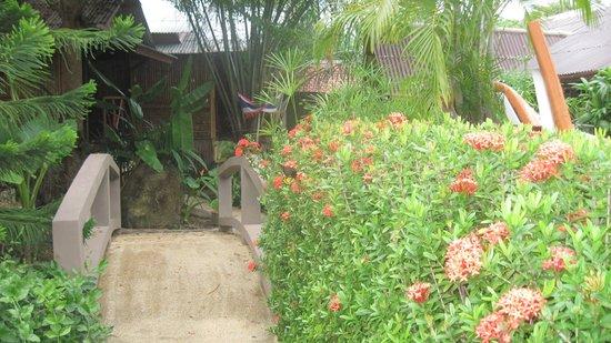 Baan Sukreep Resort:                   мостик через небольшой пруд