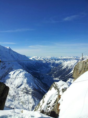 Le Hameau Albert 1er :                                                       view from the top of chamonix