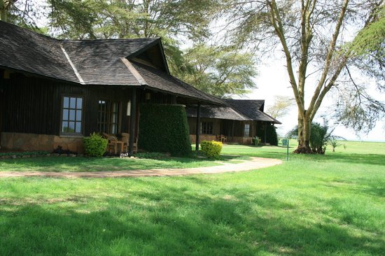 Ol Tukai Lodge: View towards 'Elephant View' front bungalows