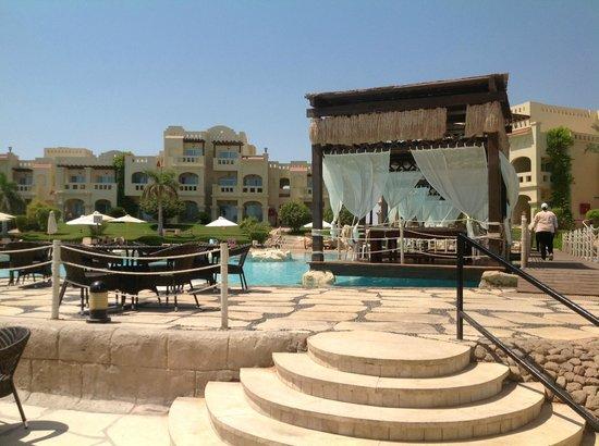 Rixos Sharm El Sheikh: massage cabanas beside lagoon pool