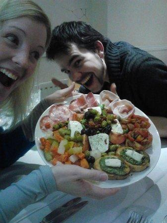 Vesuvius:                   Our delicious sharing platter