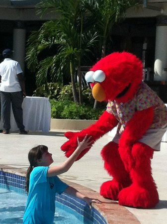 Beaches Ocho Rios Resort & Golf Club:                                     My daughter meeting Elmo