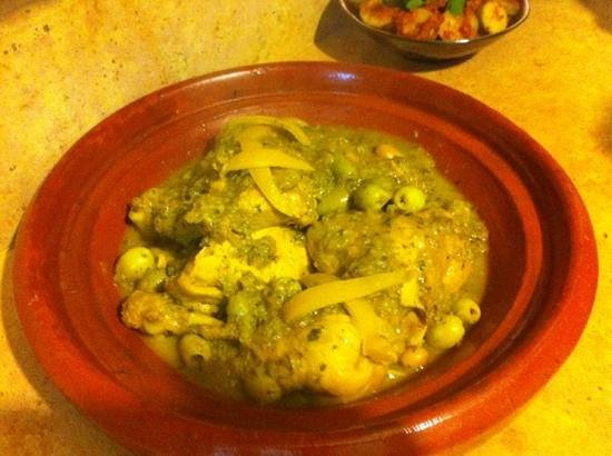 Riad El Zohar: chicken lemon and olive tagine