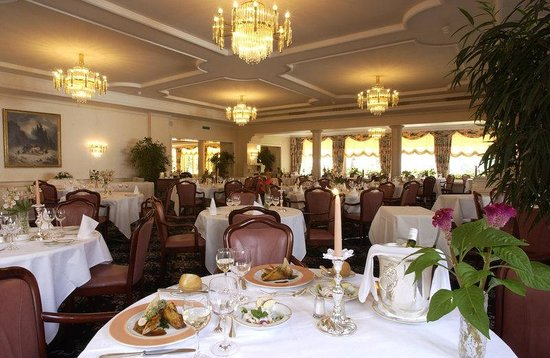 Grand Hotel Regina Grindelwald: Restaurant Pendule D'or