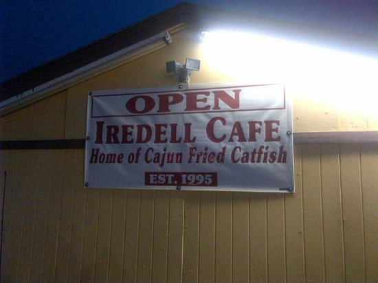 Iredell Cafe:                   Maybe someday a nice new sign - for now, this works fine!